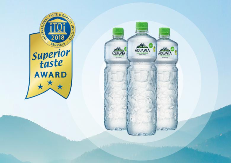 """AquaVia įvertintas prestižiniu """"Superior Taste Award"""" apdovanojimu"""